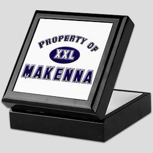 Property of makenna Keepsake Box