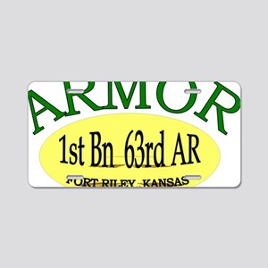 1st Bn 63rd AR cap3 Aluminum License Plate