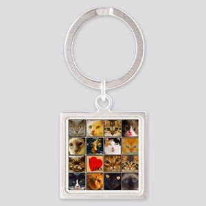 catlover Square Keychain