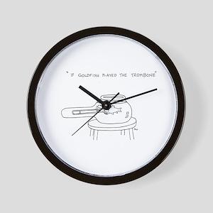 Trombone Goldfish Wall Clock
