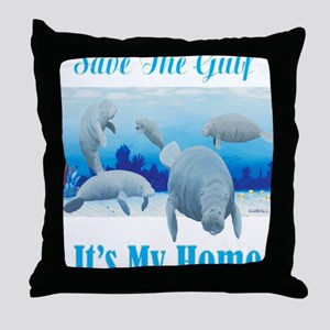 save the gulf for dark Throw Pillow