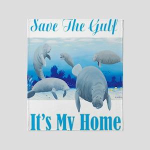 save the gulf for dark Throw Blanket