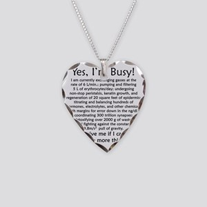 busy Necklace Heart Charm