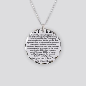 busy Necklace Circle Charm