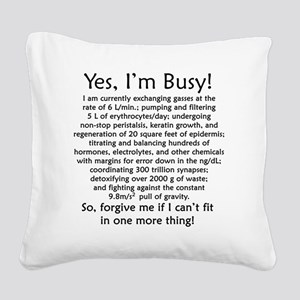 busy Square Canvas Pillow