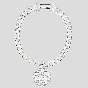 peace Charm Bracelet, One Charm