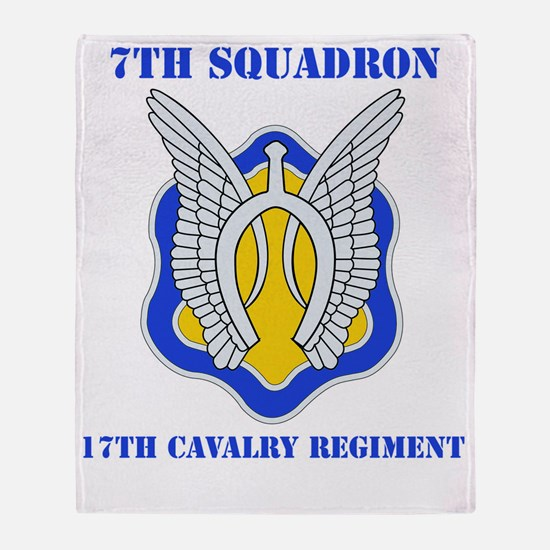 7-17TH CAV RGT WITH TEXT Throw Blanket