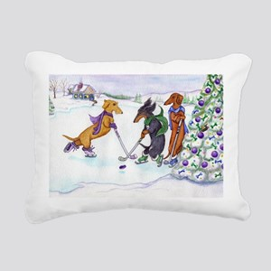 hockey5x7a Rectangular Canvas Pillow