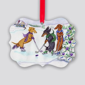 hockey5x7a Picture Ornament