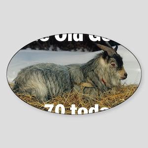 goat70ys Sticker (Oval)