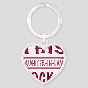 Rocks_DaughterInLaw Heart Keychain