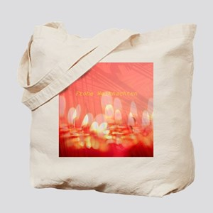 merry christmas candles german text Tote Bag