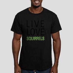 livesquirrel Men's Fitted T-Shirt (dark)