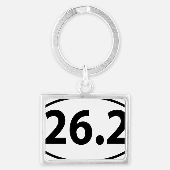 26.2 marathon Landscape Keychain
