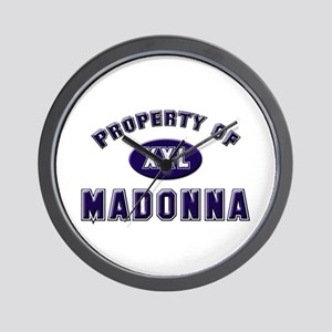 Property of madonna Wall Clock