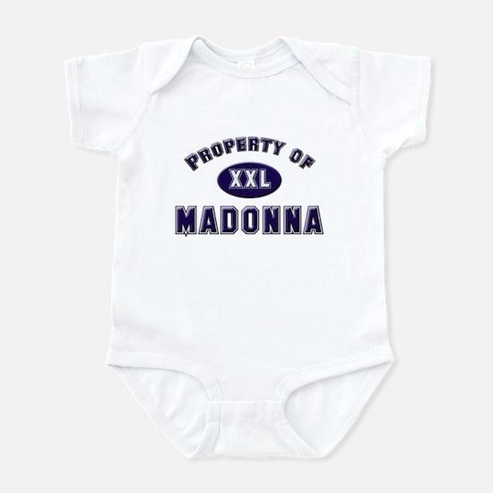 Property of madonna Infant Bodysuit