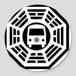Van Calendar Round Car Magnet