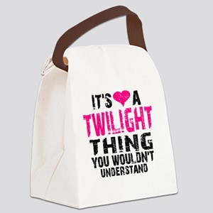 TwiThing Clock Canvas Lunch Bag