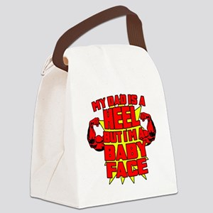 My Dad is a Heel Red Canvas Lunch Bag