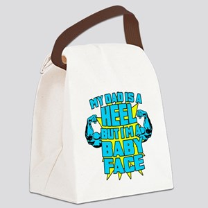 My Dad is a Heel Blue Canvas Lunch Bag