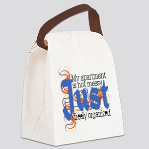 Just Freely Organized Apartment Canvas Lunch Bag