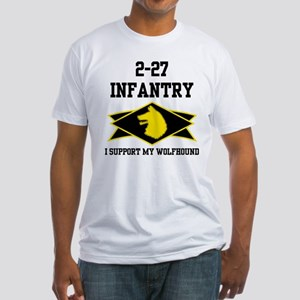 2-27 Infantry Wolfhounds Fitted T-Shirt
