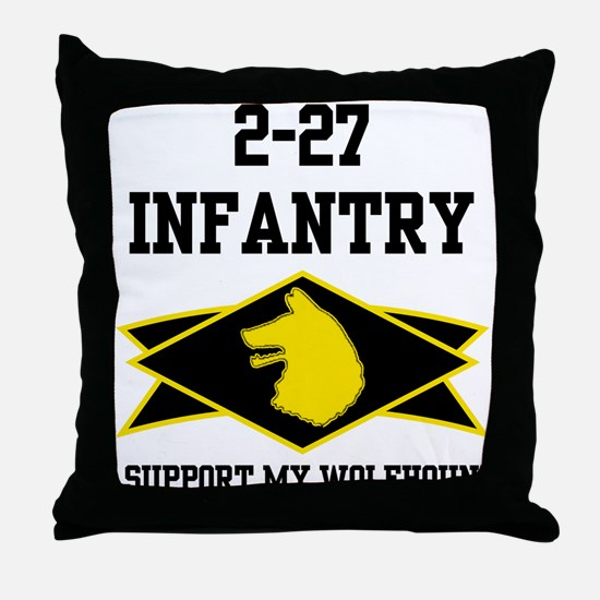 2-27 Infantry Wolfhounds Throw Pillow