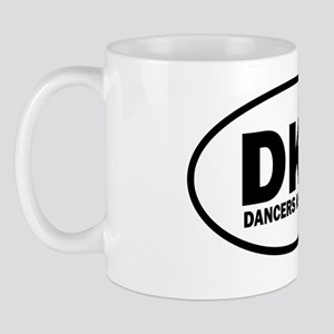 DKB dancers kick butt euro sticker copy Mug