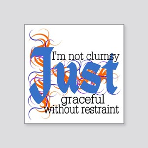 "Just Graceful Square Sticker 3"" x 3"""