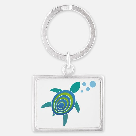 OceanDoctor HQ Just the Turtle  Landscape Keychain