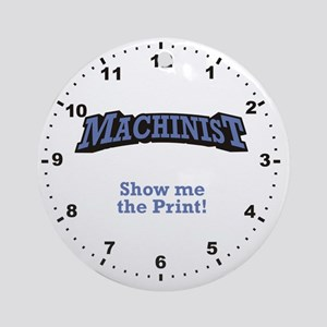 Machinist_Print_RK2010_WallClock Round Ornament