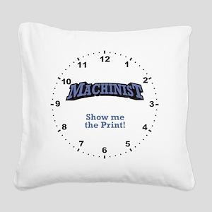 Machinist_Print_RK2010_WallCl Square Canvas Pillow