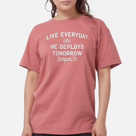 USMC Depolys Tomorrow Women's Dark Comfort Color T-shirt