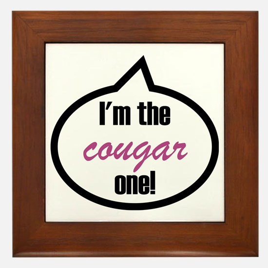 Im_the_cougar Framed Tile