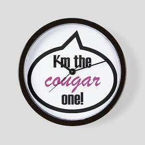 Im_the_cougar Wall Clock