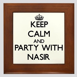 Keep Calm and Party with Nasir Framed Tile