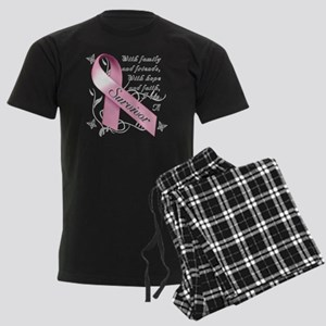 Breast Cancer Survivor Men's Dark Pajamas