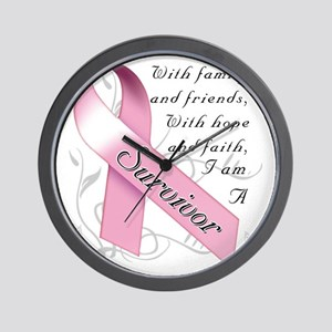 Breast Cancer Survivor Wall Clock