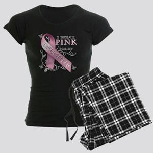 I Wear Pink for my Daughter Women's Dark Pajamas