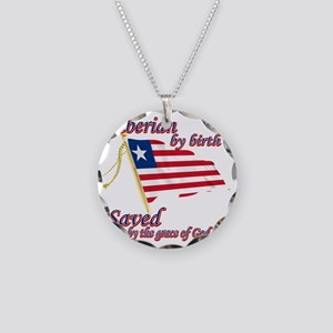 liberiannew Necklace Circle Charm