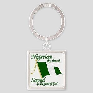 Nigerianew Square Keychain