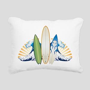 surfboard1 Rectangular Canvas Pillow