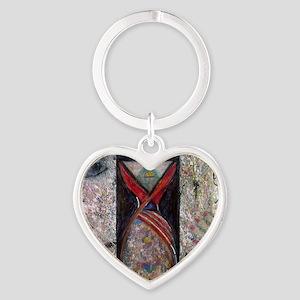 Nefertiti Mummy Heart Keychain