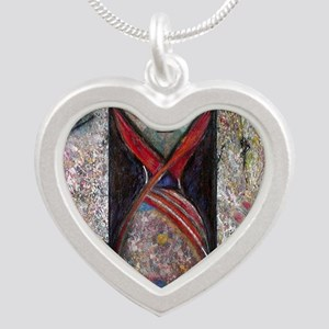 Nefertiti Mummy Silver Heart Necklace