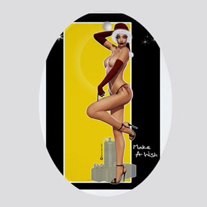 Poster Mini ClarissaB Pinup Girl Mak Oval Ornament