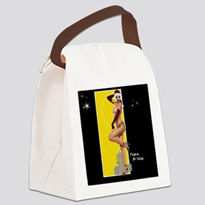 Mousepad ClarissaB Pinup Girl Mak Canvas Lunch Bag