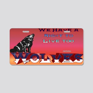 Wolves Rights Aluminum License Plate