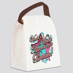 Worlds Most Awesome Busia Canvas Lunch Bag