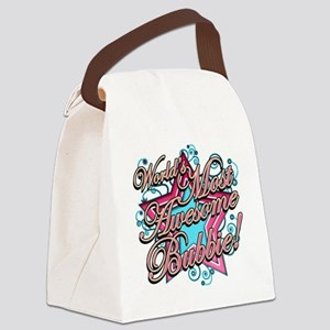 Worlds Most Awesome Bubbie Canvas Lunch Bag