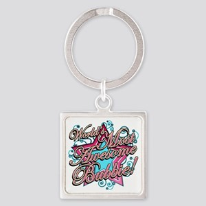 Worlds Most Awesome Bubbie Square Keychain